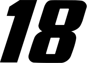 18 Race Number Decal / Sticker g