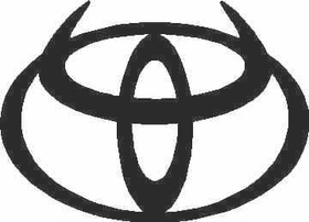 Toyota logo with Horns Decal / Sticker