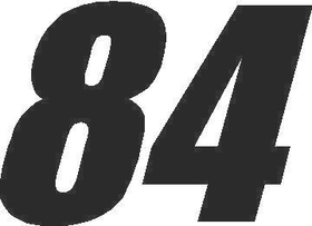 84 Race Number Impact Font Decal / Sticker