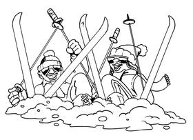 Snow Skiing Decal / Sticker