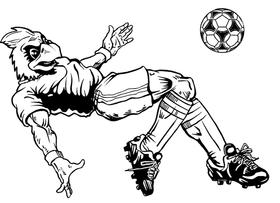 Soccer Cardinals Mascot Decal / Sticker 1