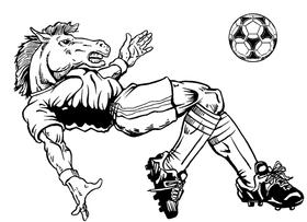 Soccer Horse Mascot Decal / Sticker 1