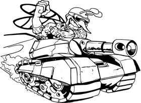 Hornet, Yellow Jacket, Bee Tank Mascot Decal / Sticker