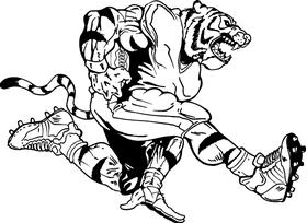 Tigers Football Mascot Decal / Sticker 11