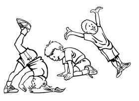 Kid Gymnast Decal / Sticker
