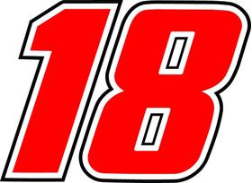 18 Race Number Decal / Sticker d