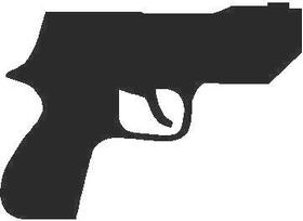 Pistol Decal / Sticker