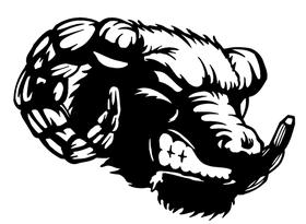 Rams Mascot Decal / Sticker 7