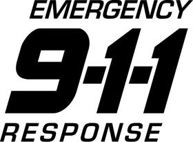 Emergency Response 911 Decal / Sticker