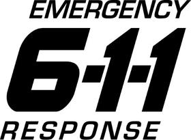 Emergency Response 611 Decal / Sticker 03