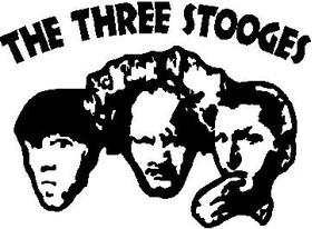3 Stooges Decal / Sticker Design 2