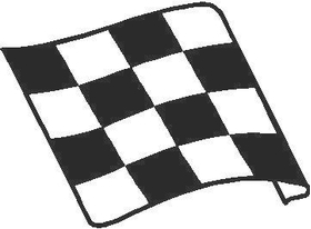 Checkered Flag Decal / Sticker 16