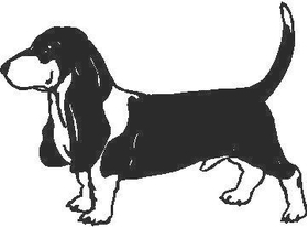 Dachshund Dog Decal / Sticker
