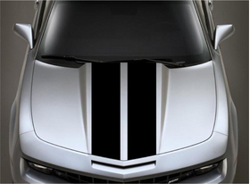 8 Inch Dual Racing Stripe Decal / Sticker