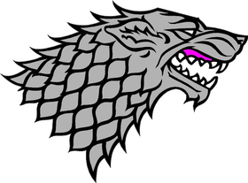 Game of Thrones House Stark Decal / Sticker 02