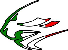 Aprilia Lion Head Italian Flag Decal / Sticker 33