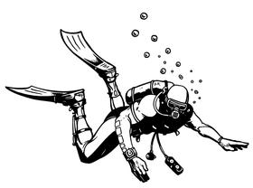 Scuba Diving Decal / Sticker