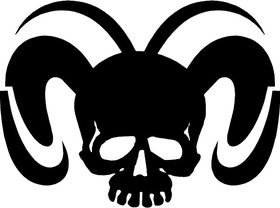 Ram Skull Decal / Sticker 19