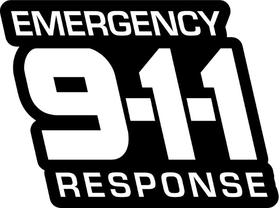 Emergency Response 911 Decal / Sticker 04