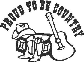 Proud to be Country  Decal / Sticker