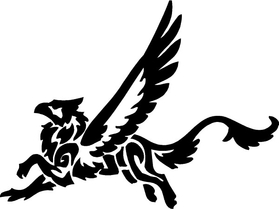 Gryphon Decal / Sticker 01
