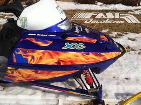 z 10 Inch Dual Blue True Fire Racing Stripe Decal / Sticker 21