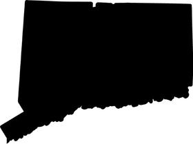 Connecticut Decal / Sticker 01