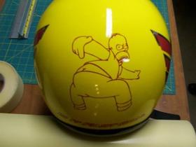 Simpsons Homer Kiss My Butt Decal / Sticker
