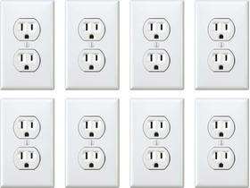 Fake Wall Outlet Prank Decal / Sticker LARGE pack of 8