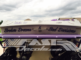Custom Straight Boat Name Lettering Decal / Sticker