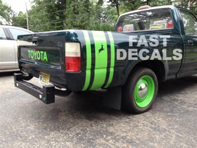 Custom Printed Lime Green Reflective Toyota Decal Sticker