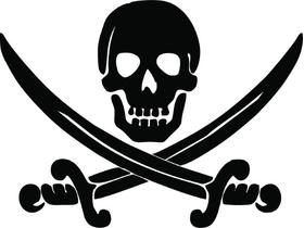 Jolly Roger Flag Decal / Sticker 26