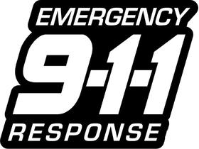 Emergency Response 911 Decal / Sticker 03