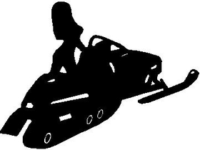 Snowmobile Girl Decal / Sticker 01