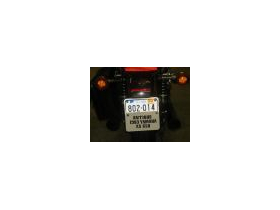 zz White Aluminum MOTORCYCLE License Plate