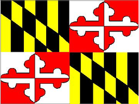 Maryland State Flag Decal / Sticker