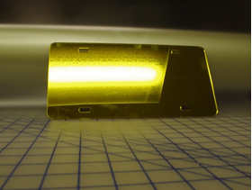 zz Gold Chrome Blank License Plate