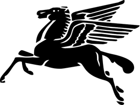 MobilGas Pegasus Decal / Sticker 15