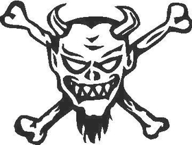 Skull Decal / Sticker N1