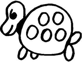 Turtle Stick Figure Decal / Sticker