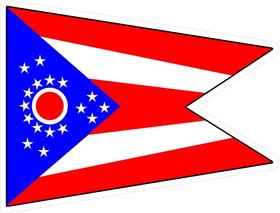 Ohio Flag Decal / Sticker 02
