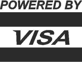 Powered By Visa Decal / Sticker