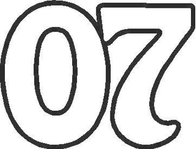 07 Race Number Homeward Bound Font Decal / Sticker