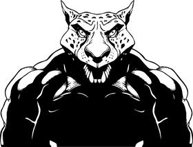Cheetahs Mascot Decal / Sticker