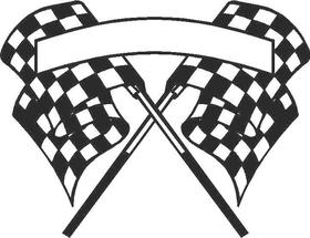 Checkered Flag Decal / Sticker 21