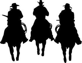 Three Cowboys Decal / Sticker 03dc