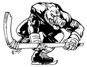 Hockey Razorbacks Mascots Decal / Sticker 1