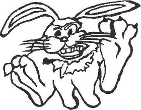 Fisher Bunny Decal / Sticker