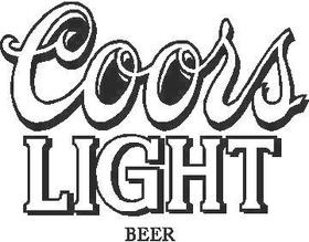 Coors Light Decal / Sticker 03