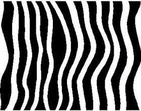 Zebra Stripe Decal / Sticker 01